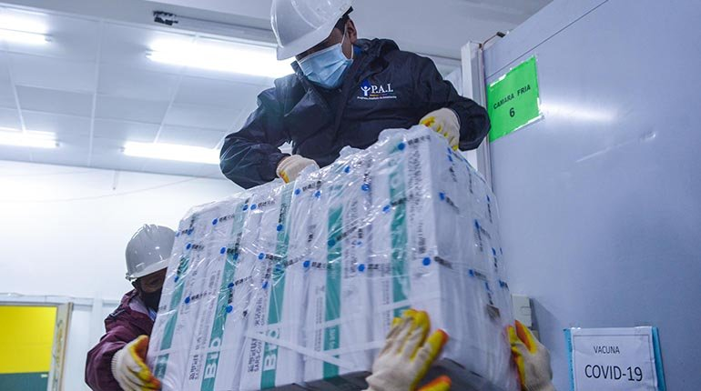 1 million Sinopharm vaccines and 17.6 tons of supplies will arrive in Bolivia between this Tuesday and Thursday