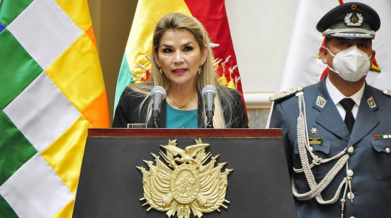 Áñez makes an appeal to testify in the legislative assembly
