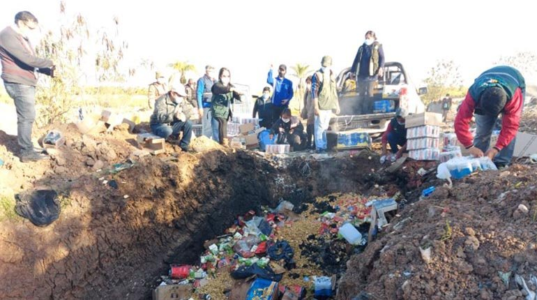 In Tarija they destroy 8.5 tons of products that entered irregularly from Argentina