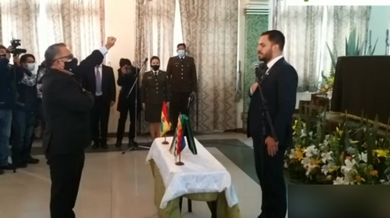 Nelson Cox is sworn in as Vice Minister of the Interior
