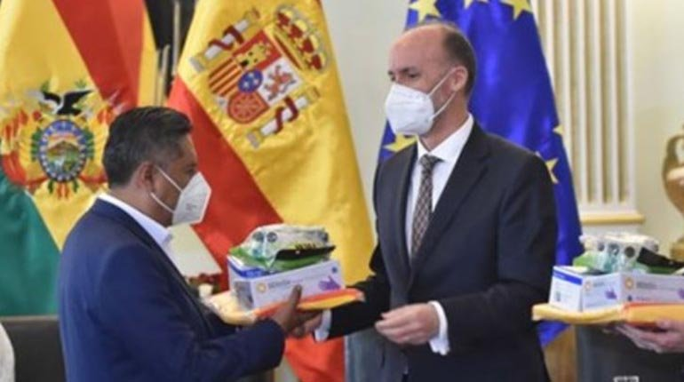 Respirators, consumables and medicines donated by Spain will arrive in Bolivia