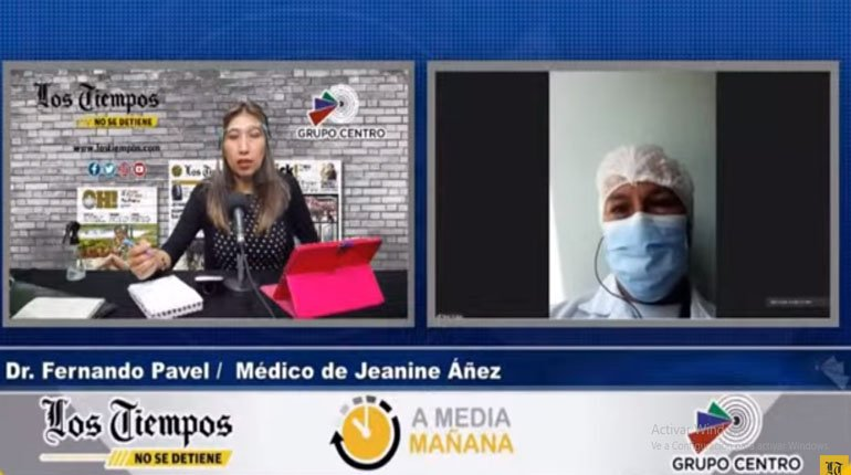 Áñez has lost 11 kilos, she is pale and her doctor suggests admission to a mental hospital