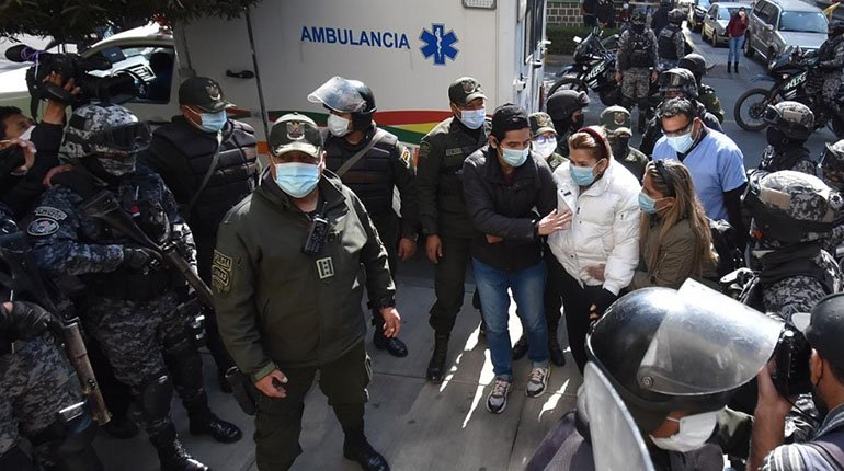 Áñez is transferred to a clinic to assess his health