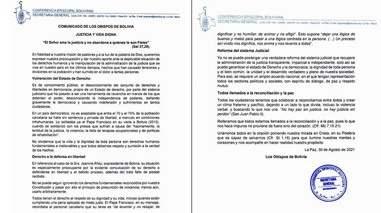 Bishops point out that the judicial reform in the country cannot be postponed and ask for reconciliation