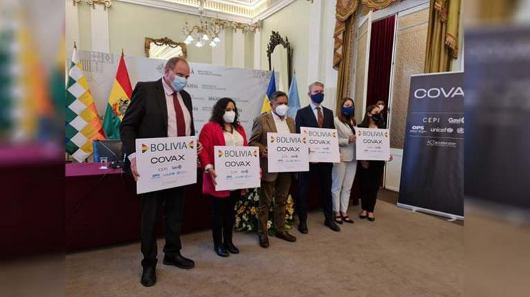 Bolivia receives 153,600 cans of AstraZeneca donated by Sweden as part of the Covax mechanism