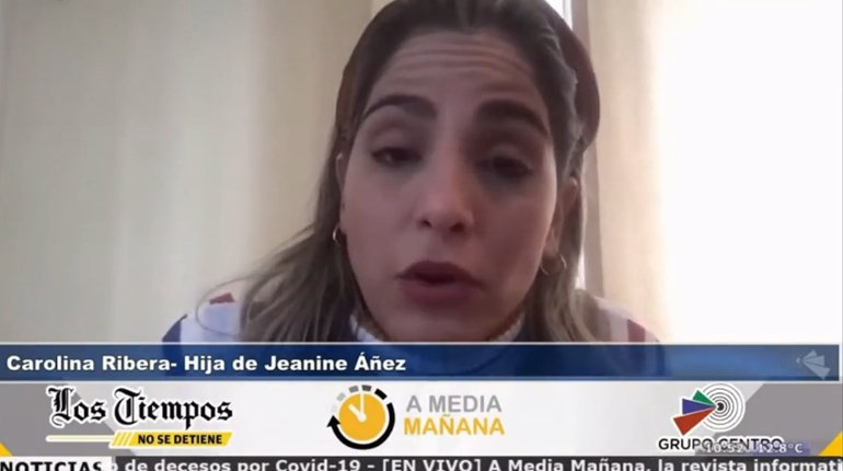 Carolina Ribera blames the government for her mother's health and life