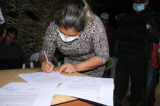 Indigenous people of Beni lift the blockade by agreement with the mayor's office of San Ignacio de Mojos.  on