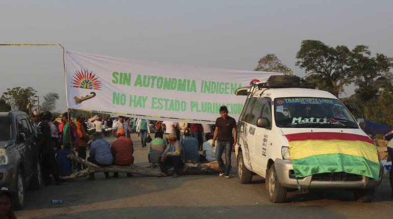 Indigenous peoples begin blockade in Beni based on an eight point statement