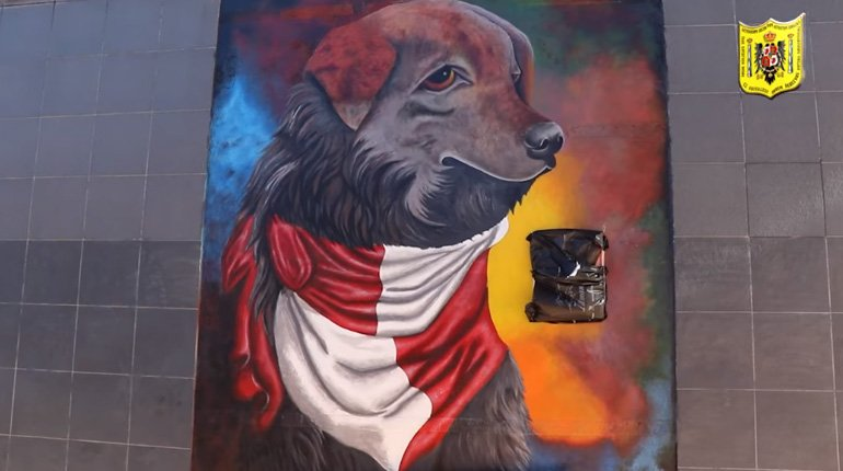 Potosí delivers spare parts in the Plaza San Roque with a mural in honor of Petardo