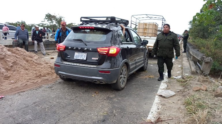They lift the roadblock in Yapacaní.  on