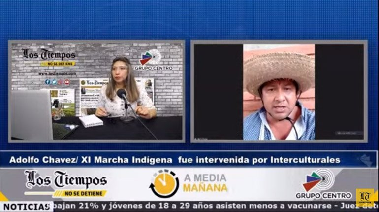 Chavez: Intercultural tried to burn the truck of the indigenous march