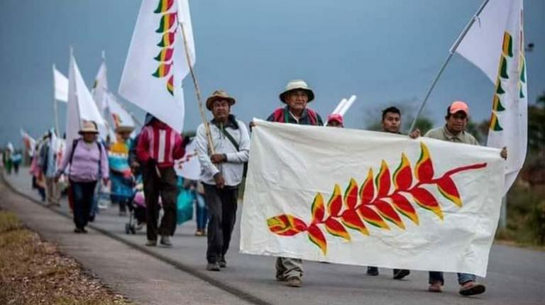 Csutcb attacks indigenous march;  Führer replies that they are not trying to destabilize the government