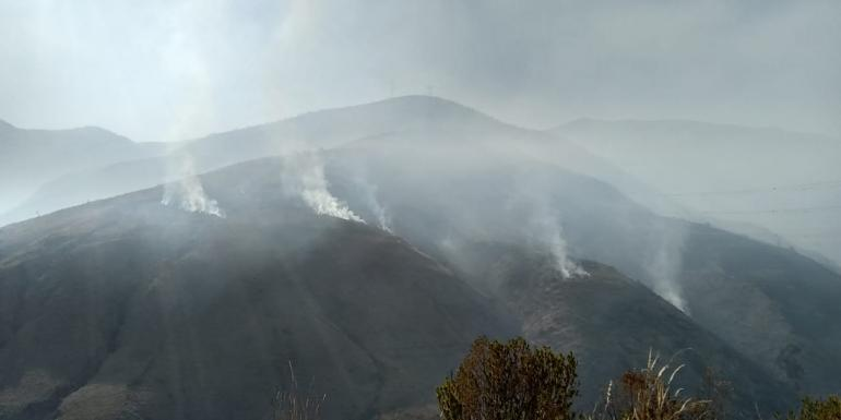 The fire in Melga remains and more teams are being dispatched to fight the fire
