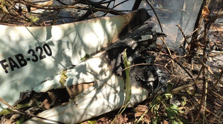 A FAB plane crashes in a wooded area in Riberalta.  away