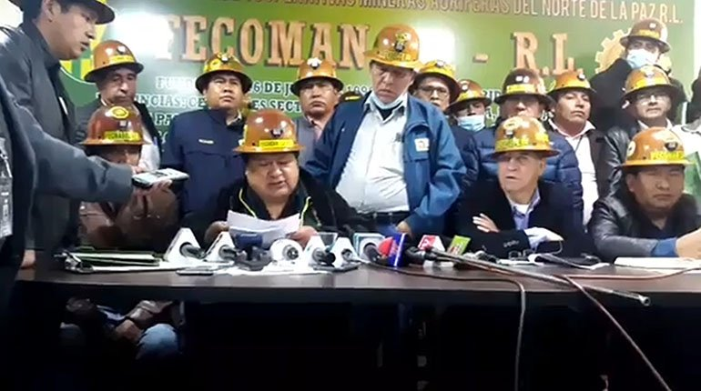Cooperative miners reject anti-legitimation law and warn Arce