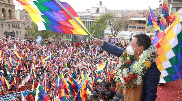 In La Paz, Arce confirmed that the MAS would