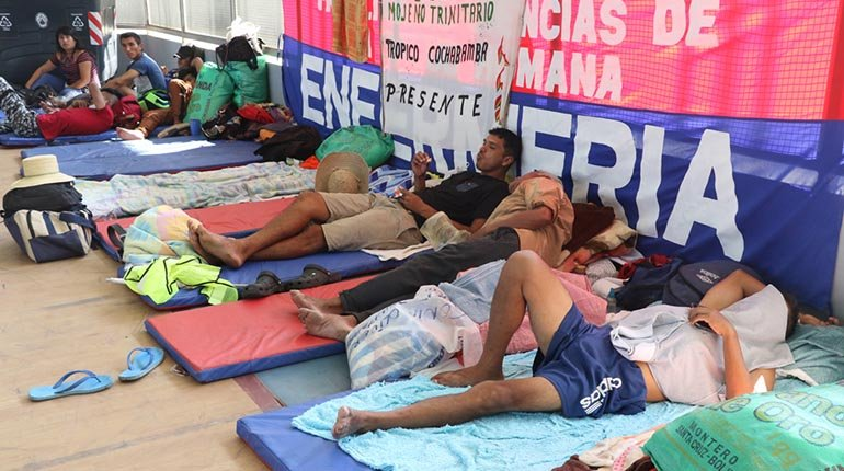 The indigenous march will not have a dialogue with vice ministers;  request a meeting with Arce
